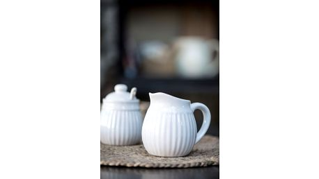 IB LAURSEN Džbánek na smetanu Mynte white, bílá barva, keramika (slevový kód JEZISEK24 na -24 %)