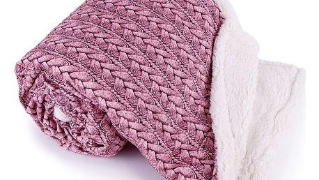 Jahu Beránková deka Maglia starorůžová, 150 x 200 cm
