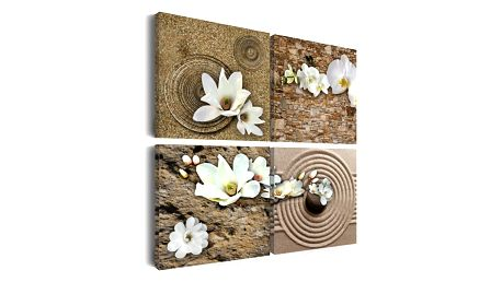 Obraz na plátně - Bílé květiny 40x40 cm.
