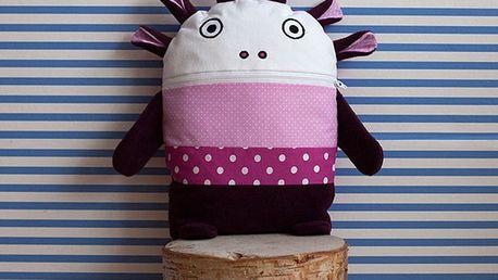 Růžovo-fialový pyžamožrout Bartex Design, 35x30cm