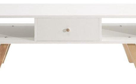 Bílý televizní stolek Symbiosis Ula - doprava zdarma!