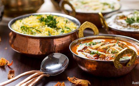 Výlet do Indie ve čtyřech: menu dle výběru pro 4