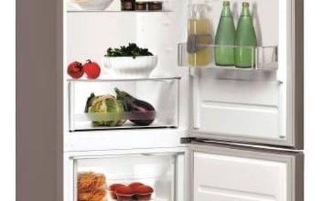 Kombinace chladničky s mrazničkou Indesit LI7 S1 X nerez + Doprava zdarma