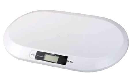 Kojenecká váha Topcom Digital BabyScale 2000, s rozlišením 10g bílá Hračka Sassy Vibrující krab a humr (zdarma) + Doprava zdarma