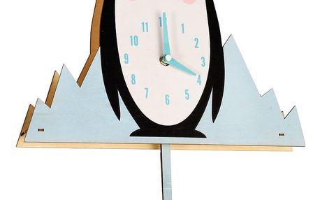 Dřevěné hodiny Rex London Milo The Penguin