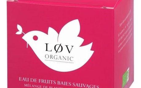 Løv Organic Ovocný čaj Wild Berry - 20 sáčků, růžová barva, papír