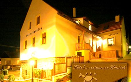 Víkendový pobyt pro dva v Hotelu Koníček na 3dny s polopenzí, vířivka pro náročné na pokoji.