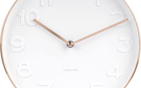 Karlsson Nástěnné hodiny Mr. White Copper, měděná barva, kov