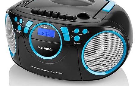 Radiopřijímač s CD Hyundai TRC 788 AUBBL černý/modrý