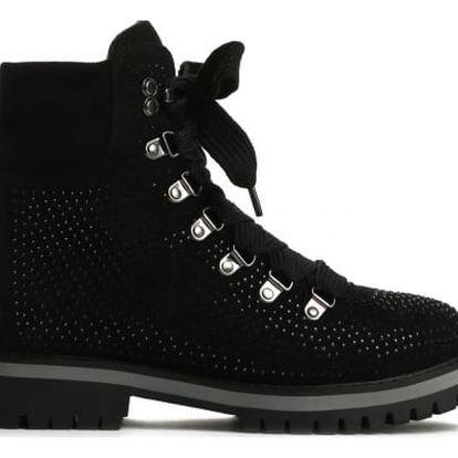 Dámské černé kotníkové boty Cariba 9094