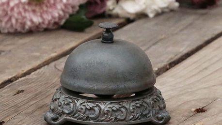 Chic Antique Zvon Antique, šedá barva, kov