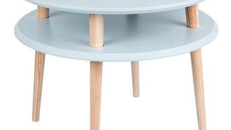 Světle šedý konferenční stolek Ragaba UFO,⌀57cm - doprava zdarma!