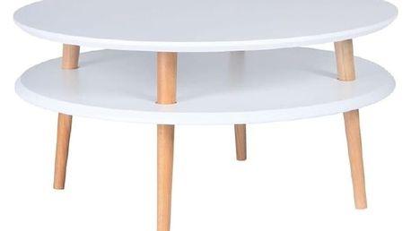Bílý konferenční stolek Ragaba UFO,Ø70cm - doprava zdarma!
