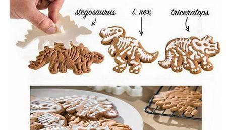 Vykrajovátka s razítky na cukroví Dinosaurus 3 ks