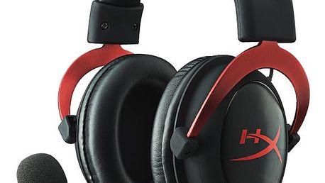 Headset HyperX Cloud II (KHX-HSCP-RD) černý/červený + DOPRAVA ZDARMA