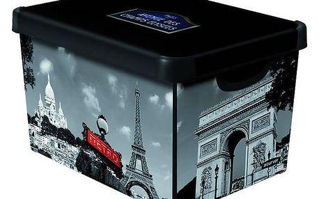 Úložný box Curver Decoboxes Stockholm Paris vel. L