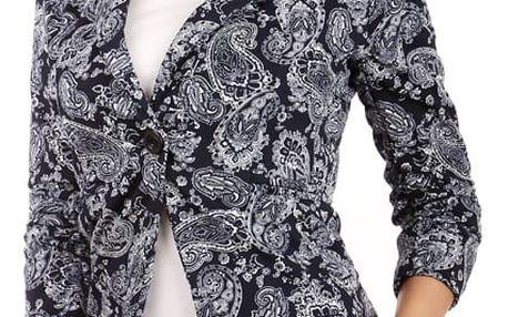 Sako s moderním motivem černá