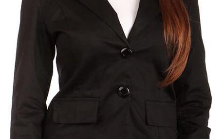 Dámské sako s krajkou černá