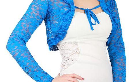 Elegantní krajkové bolerko modrá