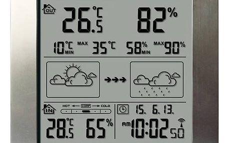 Meteorologická stanice Hyundai WS 2244 M stříbrná + Doprava zdarma