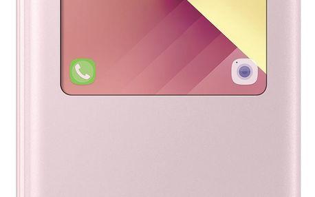 Pouzdro na mobil flipové Samsung pro Galaxy A5 2017 (EF-CA520P) (EF-CA520PPEGWW) růžové