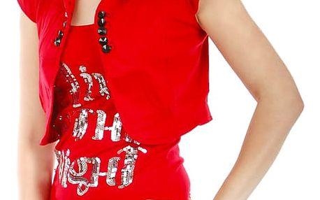 Krásné bolerko k tričkům a k tílkům červená