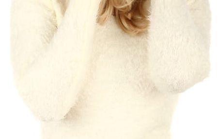 Jednoduchá pletená čepice světle šedá