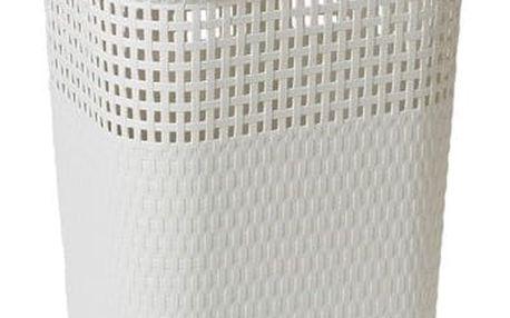 Ratanový koš na prádlo 60 l, bílá (slonová kost)