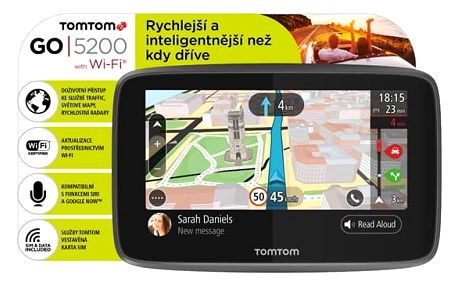 Navigační systém GPS Tomtom GO 5200 World, Wi-Fi, LIFETIME mapy (1PL5.002.01) černá + DOPRAVA ZDARMA