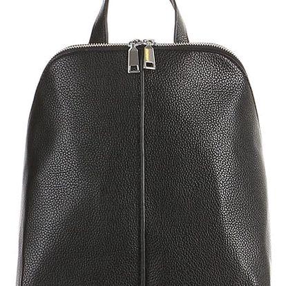 Dámský koženkový batoh černá