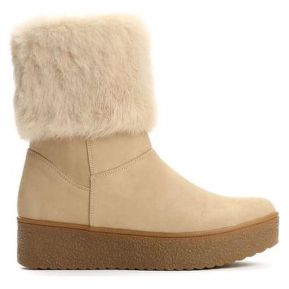Dámské béžové kotníkové boty Brida 2146
