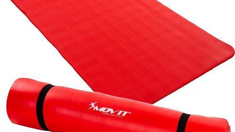MOVIT 1978 Gymnastická podložka 190 x 100 x 1,5 cm červená