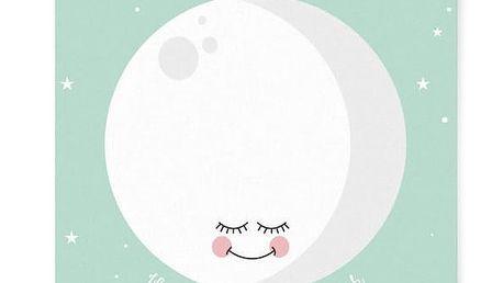 EEF lillemor Plakát Mint Moon A3, zelená barva, papír