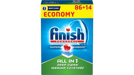 FINISH All in 1 Deep Clean (86+14 ks) - tablety do myčky