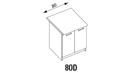 Dolní skříňka D80 pro kuchyňskou sestavu Amanda ořech viva (Amanda 1)