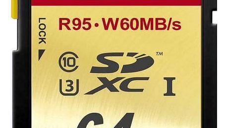 Paměťová karta Transcend 64GB UHS-I U3 (95MB/s) (TS64GSDU3)
