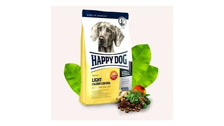 Granule HAPPY DOG Light Calorie Control 12,5 kg Konzerva HAPPY DOG Rind Pur - 100% hovězí maso 200 g (zdarma) + Doprava zdarma