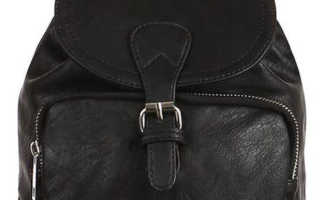 Dámský koženkový batůžek černá