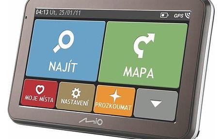 Navigační systém GPS Mio Spirit 7100 CZ/SK Lifetime (5413N5020073) černá
