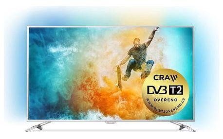Televize Philips 49PUS6561 stříbrná + DOPRAVA ZDARMA