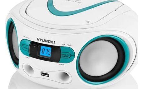 Radiopřijímač s CD Hyundai TRC 533 AU3WBL bílý/modrý