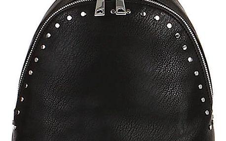 Malý koženkový batoh s cvočky černá