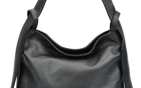 Černá kožená kabelka Isabella Rhea Stella - doprava zdarma!
