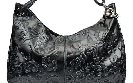 Černá kožená kabelka Renata Corsi Violetta - doprava zdarma!