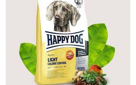 Granule HAPPY DOG Light Calorie Control 12,5 kg Konzerva HAPPY DOG Rind Pur - 100% hovězí maso 200 g (zdarma) + Doprava zdarma