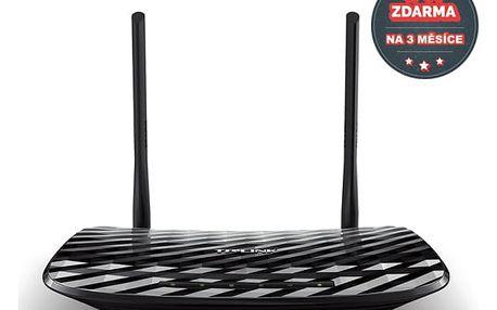Router TP-Link Archer C2 AC900 + IP TV na 1 měsíc ZDARMA (Archer C2) černý