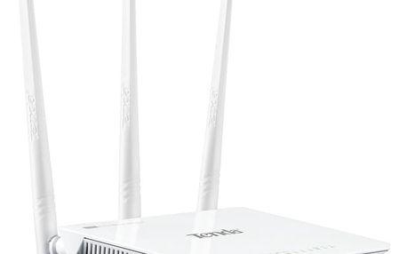 Tenda F303 WIFI-N 3port Broadband N Router 300Mbit (3xLAN, 1x WAN, WiFi-N) anténa 3x 5dB fixní
