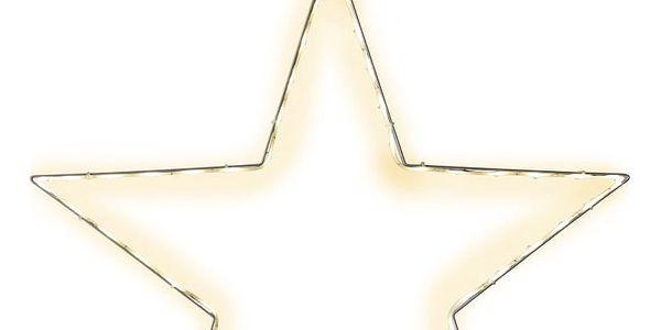 Závěsná svítící LED dekorace Best Season Lumiwall Star