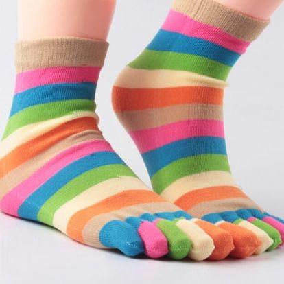 Duhové prstové ponožky