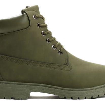 Dámské zelené kotníkové boty Petty 800